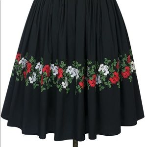 NWT Trashy Diva Hilda Rose Print Swing Skirt
